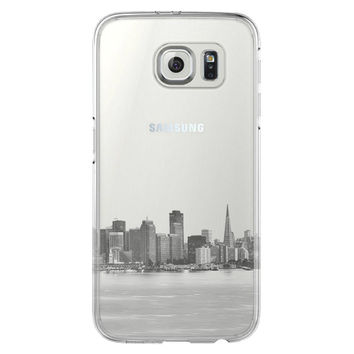 Urban San Francisco Skyline  Samsung Galaxy S6 Edge Clear Case S6 Case S5 Transparent Cover iPhone 6s plus Case