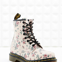 Dr. Martens 1460 8-Eyelet Floral Boots in Ivory - Urban Outfitters