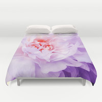 Peony #7 Purple wave Duvet Cover by Lillyan
