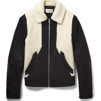 Maison Margiela - Faux Shearling and Wool-Blend Jacket | MR PORTER