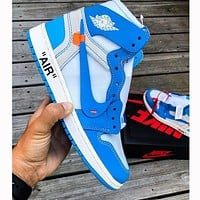 NIKE AIR JORDAN 1 X off-white AJ1 OW sneakers are popular for casual men and women