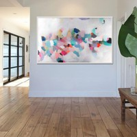 Large modern wall art giclee print, large abstract painting print, colorful painting, acrylic abstract painting by Camilo Mattis