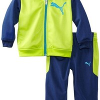 PUMA   Kids Baby Boys' Cat Colorblock Promo Tricot, Lime Punch, 18 Months