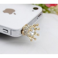 Big Mango Cute Crystal Metal Koala Anti Dust Plug Stopper / Ear Cap / Cell Phone Charms for Apple iPhone 5 5S,iPhone 4 4s ,iPad Mini iPad 2 ,iPod Touch 5 4,Samsung Galaxy S3 S4 Note3 Note 2,HTC and Other 3.5mm Earphone Jack Phones ( Golden )