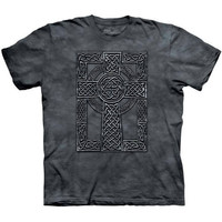 CELTIC CROSS The Mountain Scottish Irish Knot Religious T-Shirt S-3XL NEW