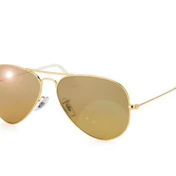 Cheap RAY-BAN RB3025 AVIATOR SUNGLASS GOLD 001/3K 62MM (LARGE) brown silver mirror outlet