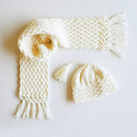 PATTERN Cabled Scarf & Hat