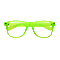 Neon Clear Lens Party Style Square Eyeglasses Frames W1900