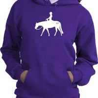 Western Pleasure Brand Horse & Rider Purple Hoodie