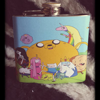 Adventure Time 5 OZ Stainless Steel Hip Flask