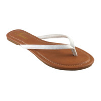 Forever Faithful Classic Strap White Flip Flops, Sandals