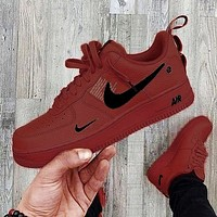 Nike Air Force 1 Low New Fashion Women Men Wild Casual Low-Top Shoes Red