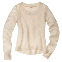 Mossimo Supply Co. Juniors Pointelle High Low Sweater - Assorted Colors