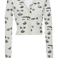 Faces Jacquard Fitted Cardigan | Moda Operandi