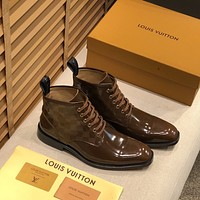 lv louis vuitton men fashion boots fashionable casual leather breathable sneakers running shoes 622