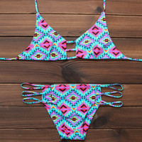 Sexy Women's Aztec Bikini Swimsuits Two Pieces