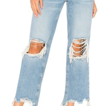 Free People Maggie Mid Rise Straight Leg