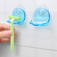 Super Suction Cup Razor Rack Razor Holder Suction Cup Shaver Storage Rack Wall Hook Hangers Towel Sucker bathroom accessories