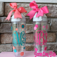 MONOGRAMMED TERVIS WATERBOTTLE by GameDayGirlsandGifts on Etsy