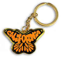 California Monarch Butterfly Keychain