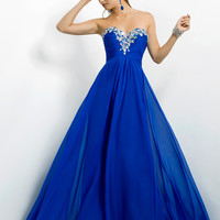 Beaded Sweetheart Neckline Empire Waist Prom Dress By Blush 9717