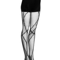 BARBED WIRE TIGHTS | PANTS | Alexander Wang Official Site