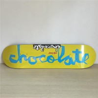 "Chocolate 8"" Canadian Maple Yellow Skateboard Deck"
