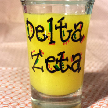 Delta Zeta Hand Painted 1.5 oz Shot Glass