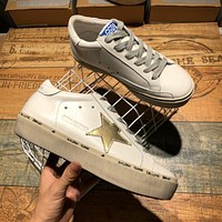 Golden Goose Ggdb Hi Star Sneakers With Gold Star