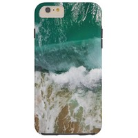 Shimmering Turquoise Ocean Waves and sand Tough iPhone 6 Plus Case