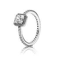 PANDORA Timeless Elegance Ring, Clear CZ - Size 9