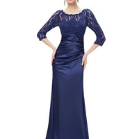 Evening Dresses Ever Pretty HE09882 Autumn Style Elegant 3/4 Sleeve Lace Women Long Formal Party 2016 Evening Dresses