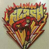 Flash Running Flames - Iron on Patch