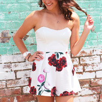 Showstopper Floral Romper {White}