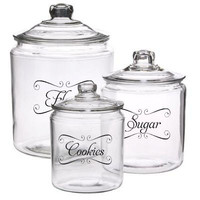 """Jar Labels & Tags 5""""x3"""" to help Organize Your Pantry Vinyl Decals Choose any 4"""