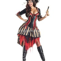 MOONIGHT Women Pirate Costumes 2017 New Halloween Costumes For Women Movie Cosplay Clothes Include Pirate Hat