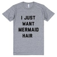 Mermaid hair-Unisex Athletic Grey T-Shirt
