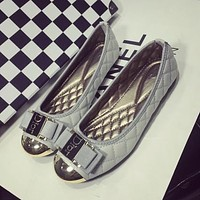 Dior Slip-On Women Fashion Leather Flats Shoes