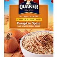 Quaker Pumpkin Spice Limited Edition Instant Oatmeal 8 Ct, 1.51 oz Packets (Pack of 2)