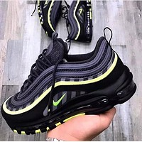 NIKE AIR MAX 97 Tide brand atmospheric pad wild sports shoes Black