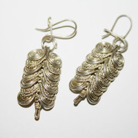 Vintage Wire Wrapped Dangle Earrings - free ship US