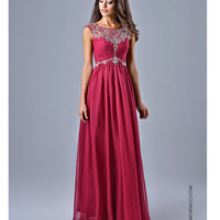 Beautiful Embellished Wine Colored Gown