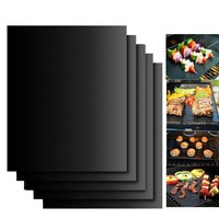 Silicone Baking Mat BBQ Cooking Mat Black Reusable Nonstick Sheet Oven Tray