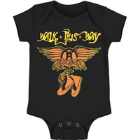 Aerosmith Boys' Walk This Way Bodysuit Black