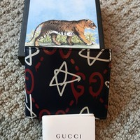 NEW AUTHENTIC GUCCI GHOST GUCCIGHOST GG Mens Navy Wallet $420+