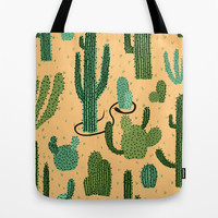 The Snake, The Cactus and The Desert Tote Bag by David Penela