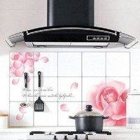 Anti-oil kitchen tile stickers high temperature anti-smoke really foil wallpaper paste stove 45 * 75