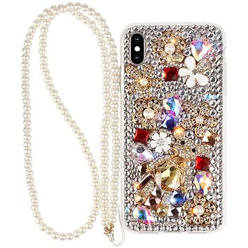 Bling Iphone Case Flower