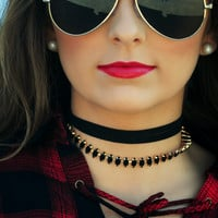 Story Of A Girl Choker: Black
