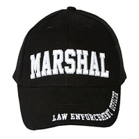 Law Enforcement Marshall Brass Buckle Adjustable Hat